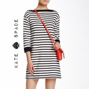 kate ♠️ spade stripe boatneck shift dress, NWOT